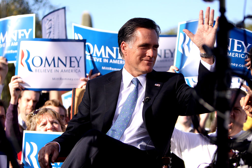 Mitt Romney at Paradise Valley, Arizona Ralley